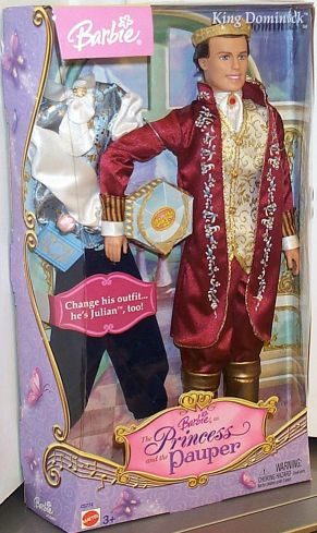 Barbie As The Princess And The Pauper Ken As King Dominick As The Princess And